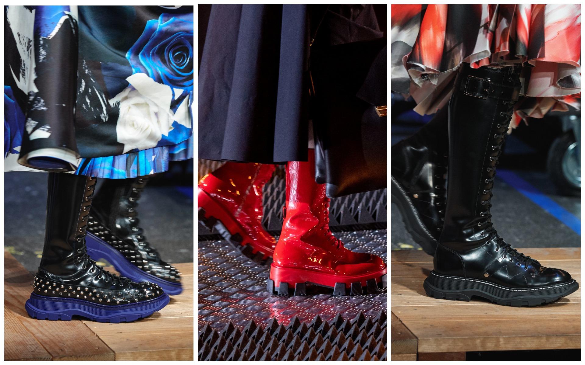 Сочетай грубые ботинки с нежными длинными платьями и юбками