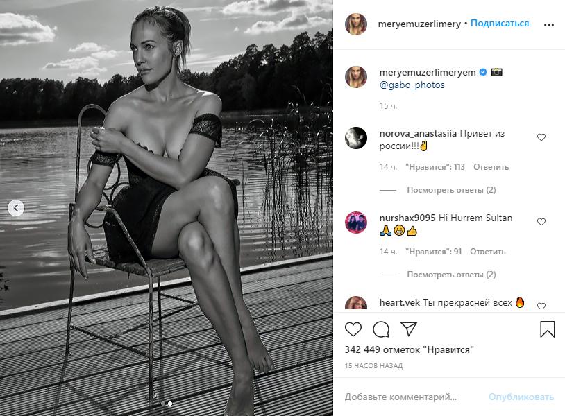 Турецкая актриса показала пикантные фото