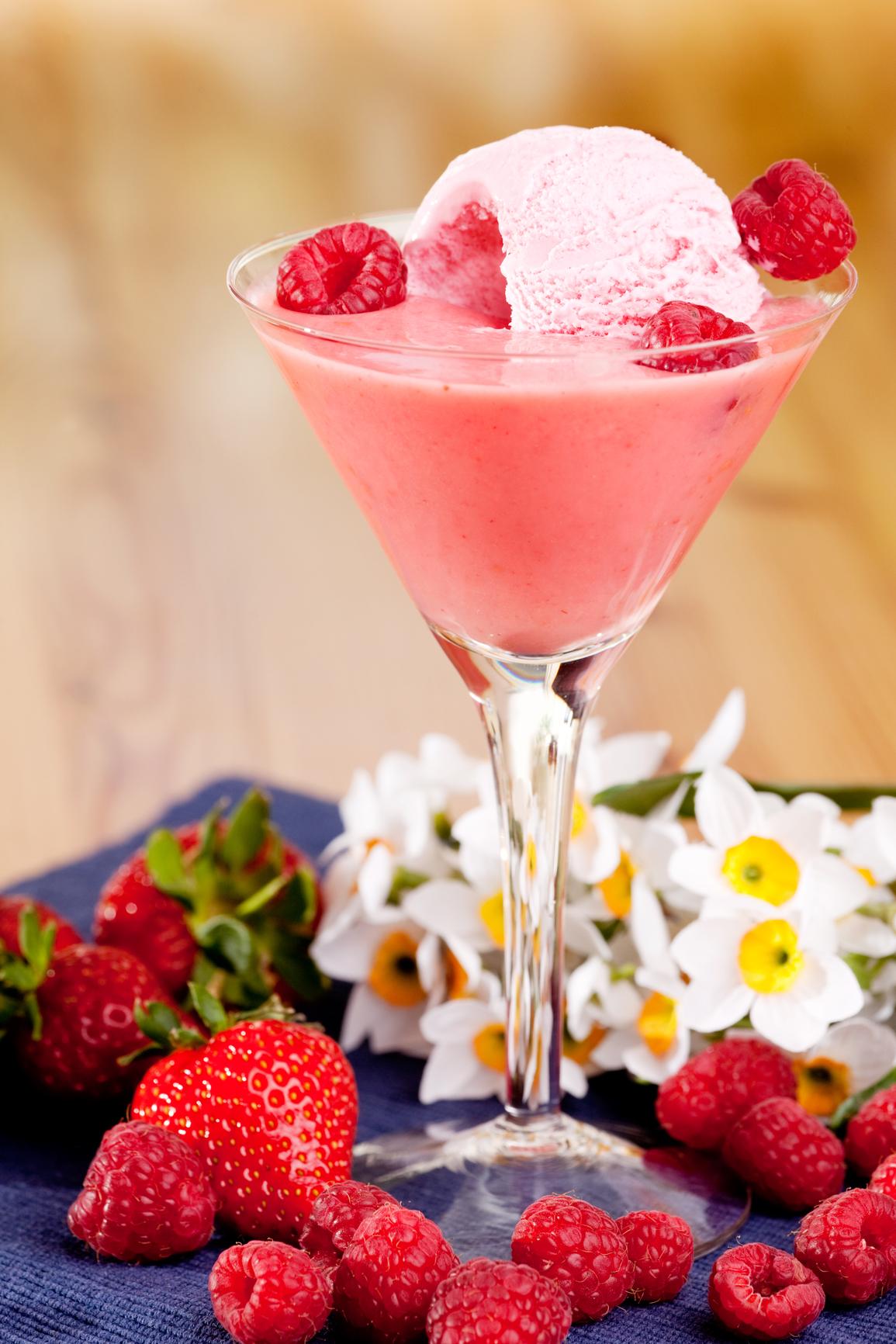 Молочные коктейли с малиной рецепты