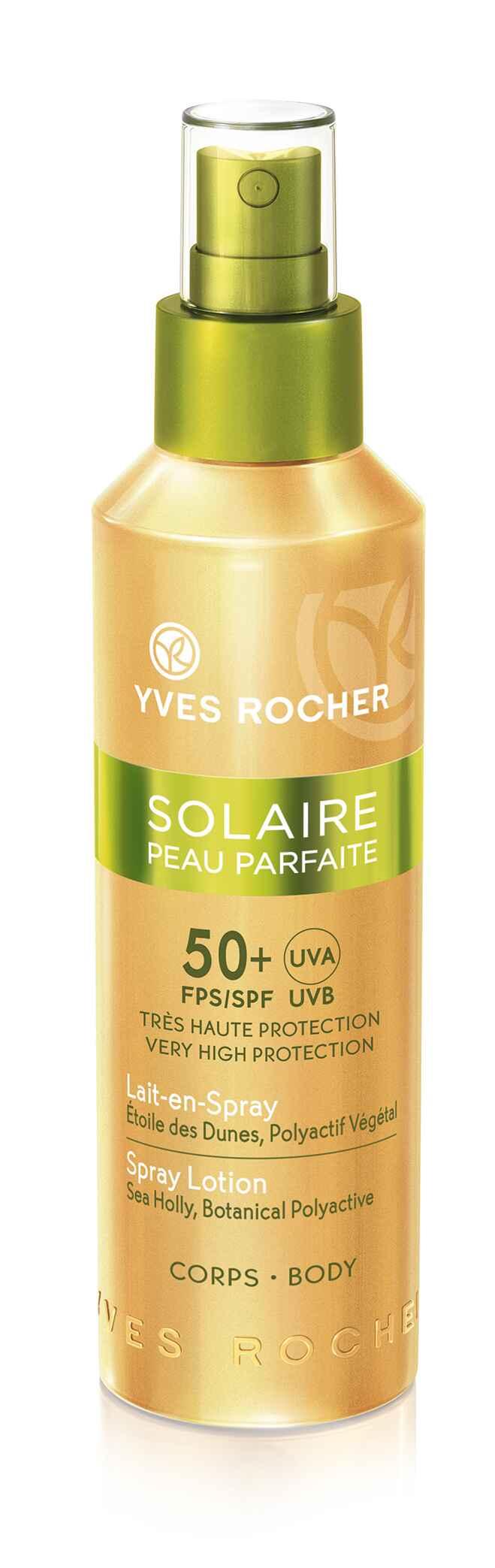 Солнцезащитное молочко-спрей SPF 50 от Yves Rocher
