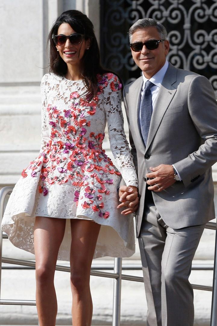 Амаль Алламудин и Джордж Клуни отметили первую годовщину свадьбы