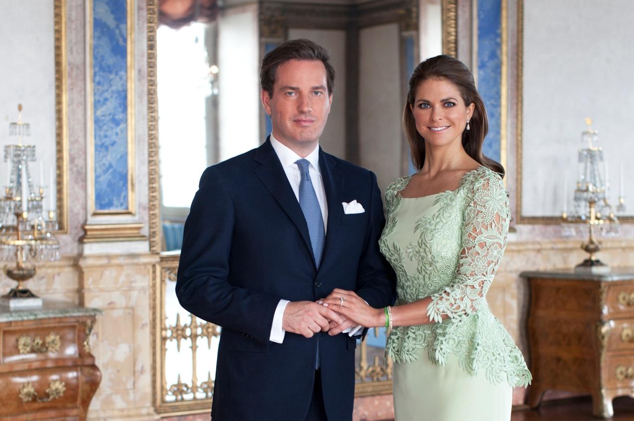 Принцесса Швеции Мадлен (справа) и Кристофер О'Нилл