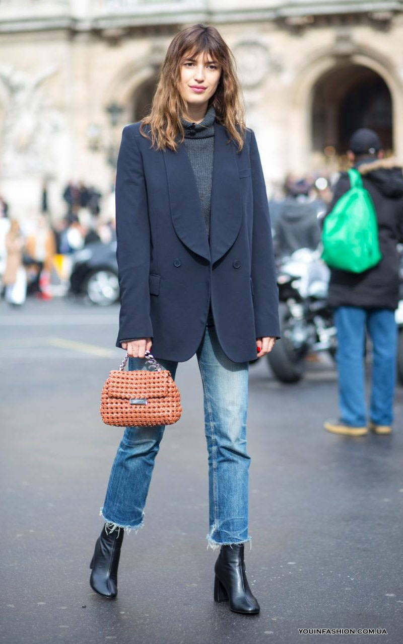 Как носить узкие джинсы зимой 2019/20