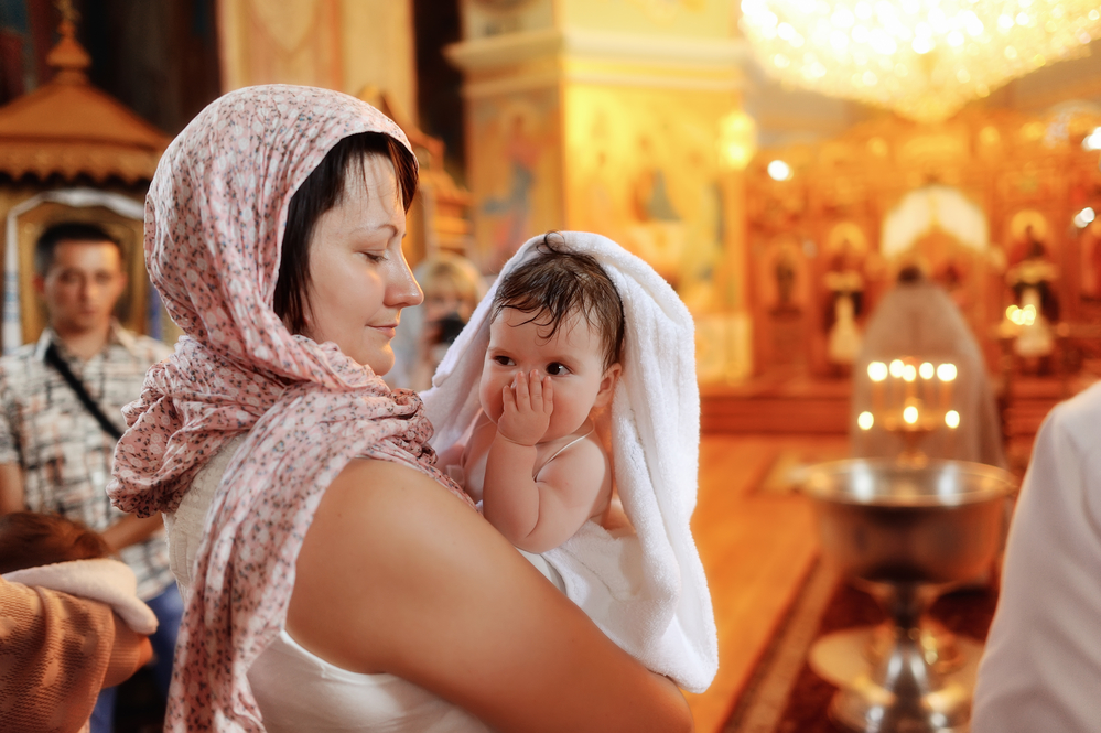 картинка крещение ребенка