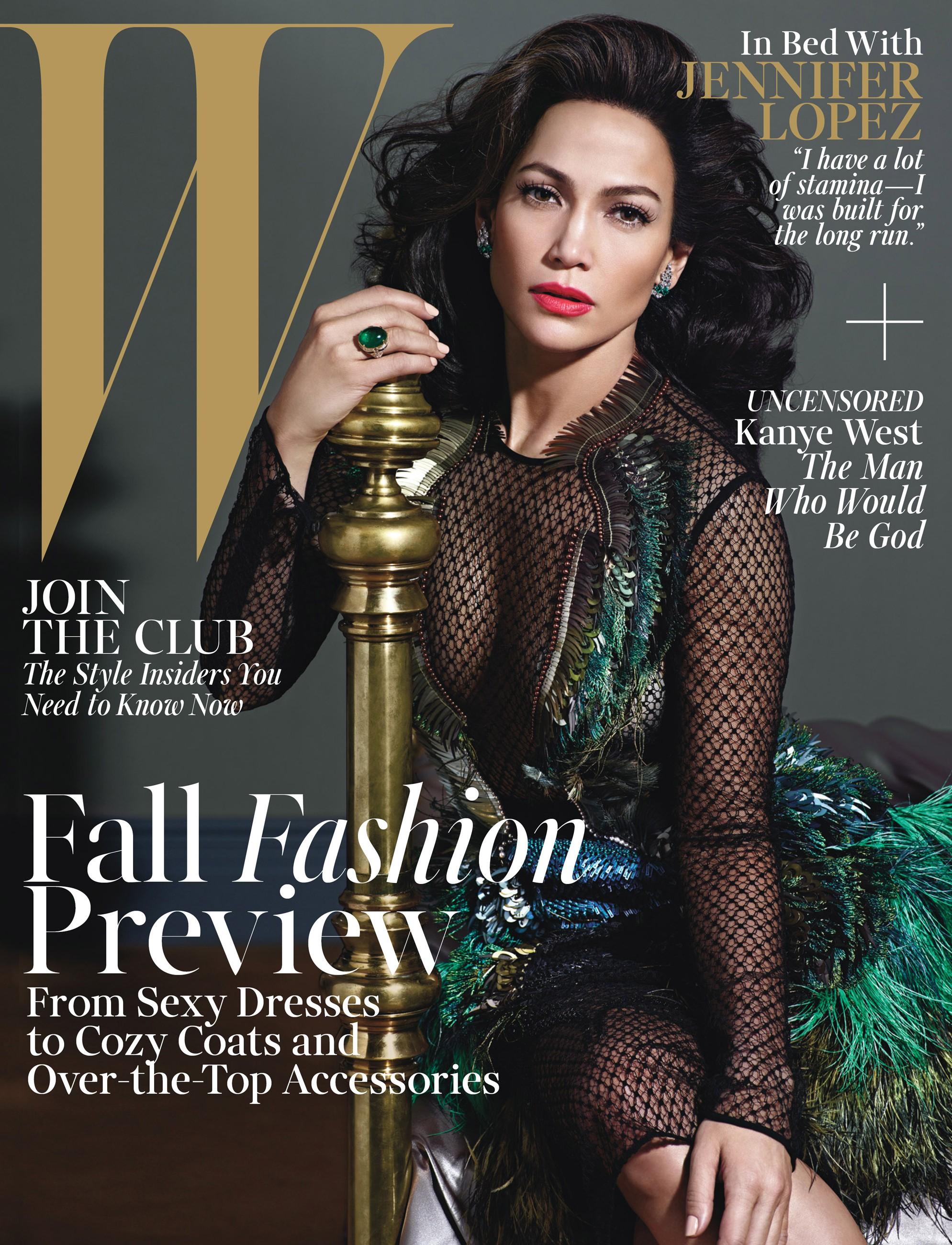 Дженнифер Лопес в платье Gucci на обложке августовского номера журнала W Magazine