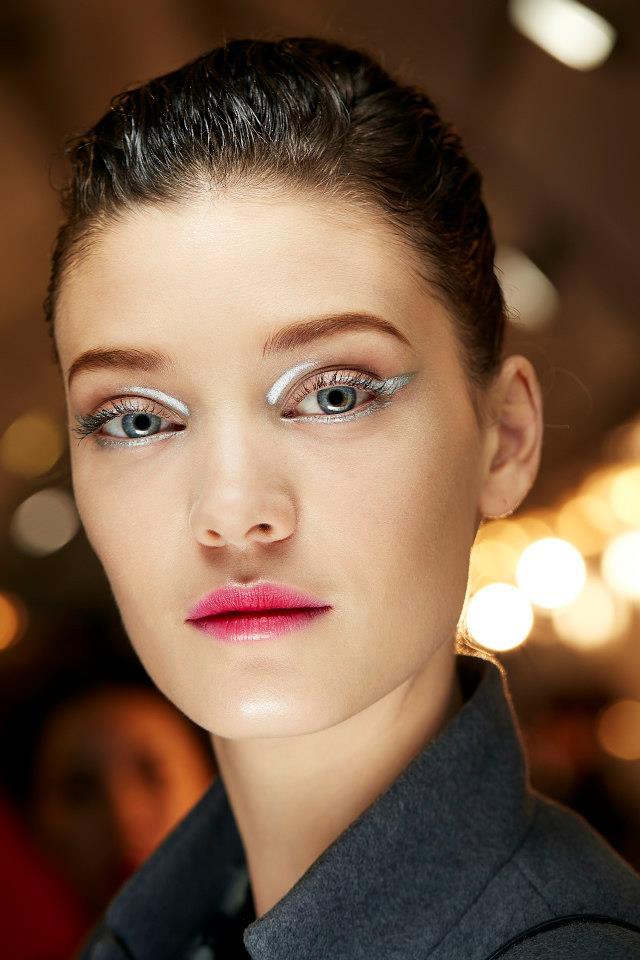 Mакияж на показе Dior осень-зима 2013-2014