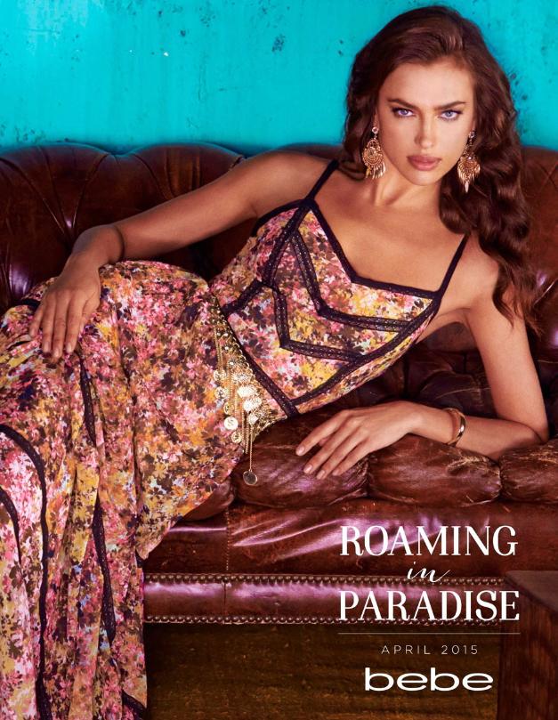 Модель Ирина Шейк выглядит шикарно в цветочном сарафане