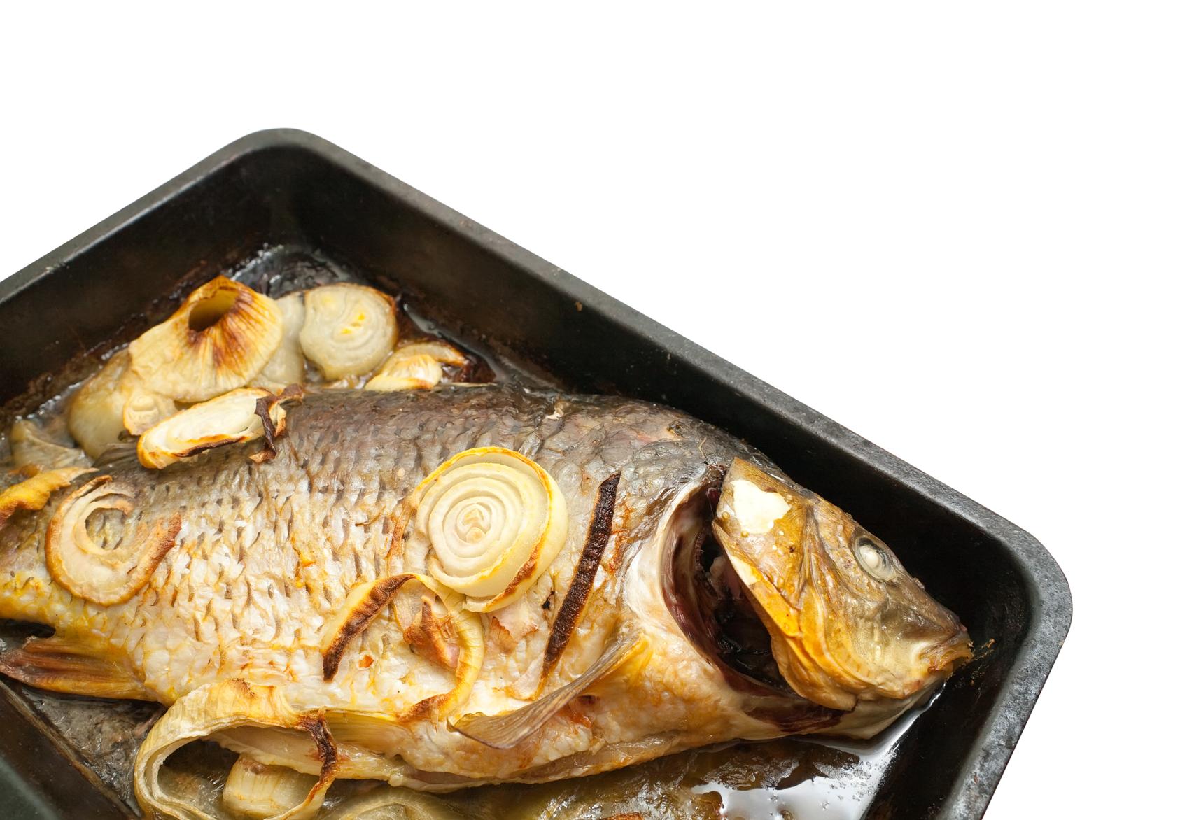 Речная рыба с грибами рецепт