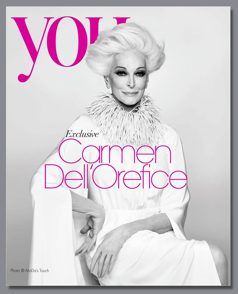 82-летняя Кармен Делль'Орефайс на обложке журнала YOU Magazine