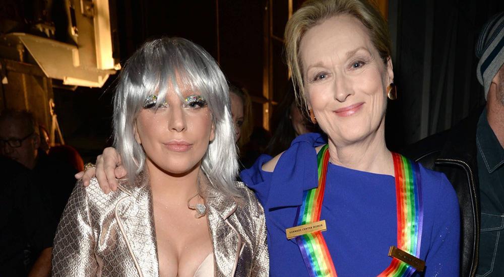 Lady GaGa (слева) и Мерил Стрип
