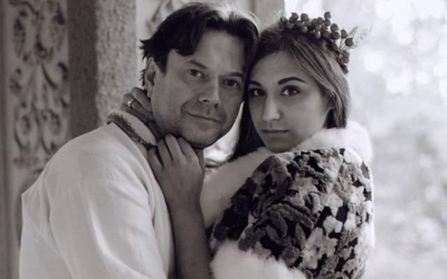 Актер Остап Ступка и его молодая жена Дарья