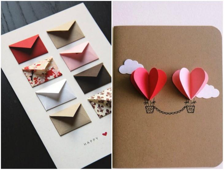 Еще один вариант необычной открытки - в виде конвертиков