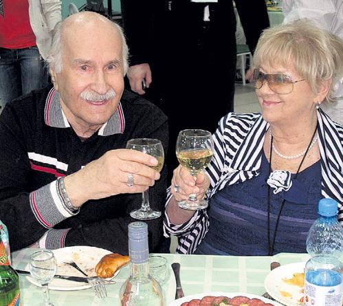 Владимир Зельдин с женой Иветтой