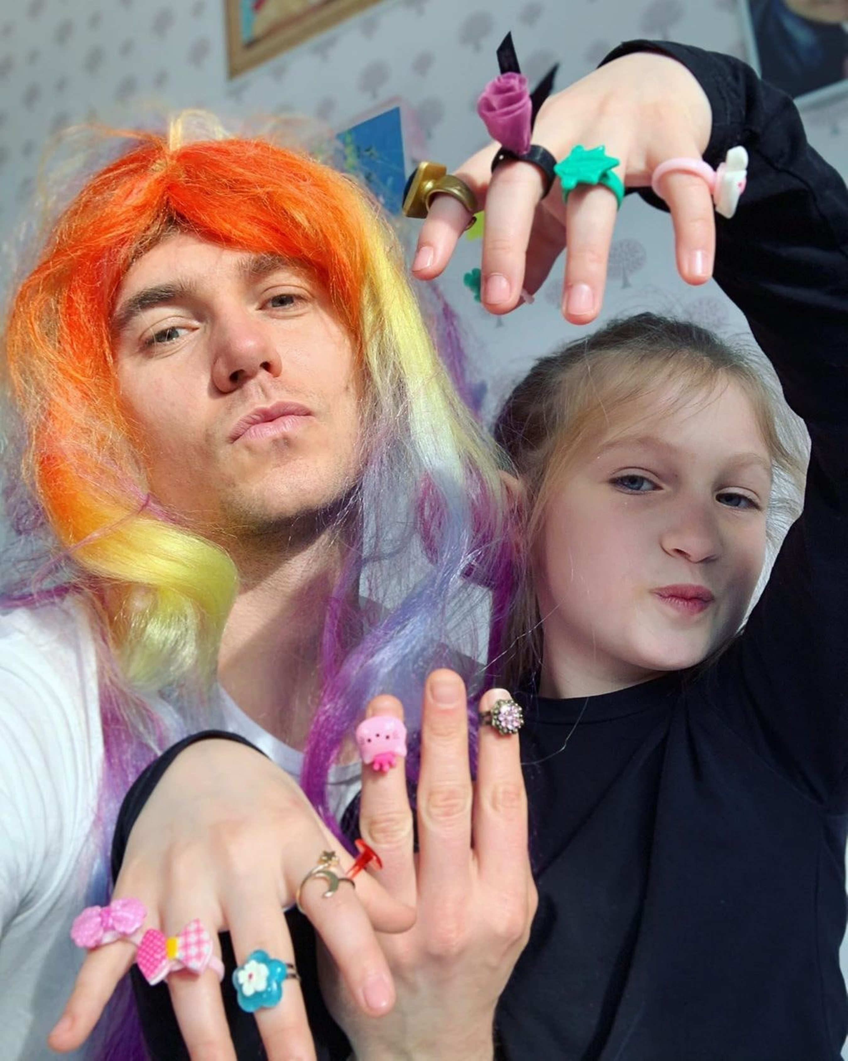 Владимир Остапчук с дочкой