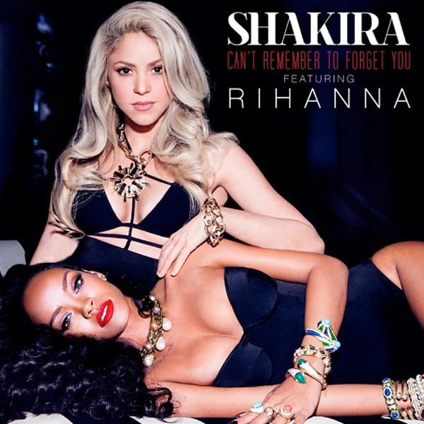 Певицы Рианна и Шакира на обложке совместного сингла Can't Remember to Forget You