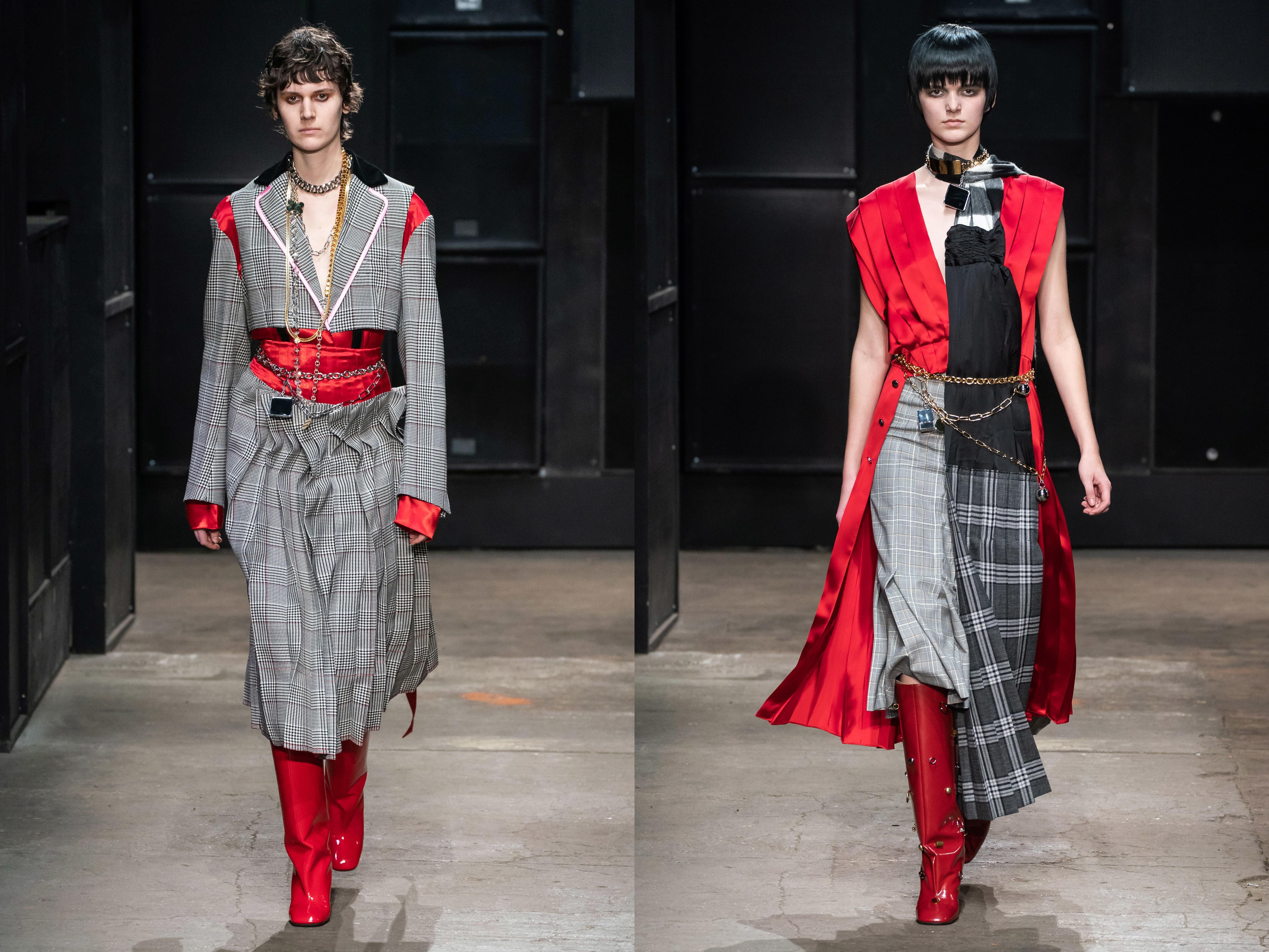 Цепи носите на поясе поверх пальто - самый модный вариант