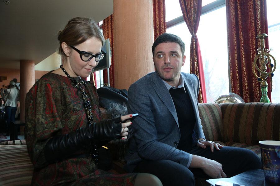 Максим Виторган с женой Ксенией Собчак