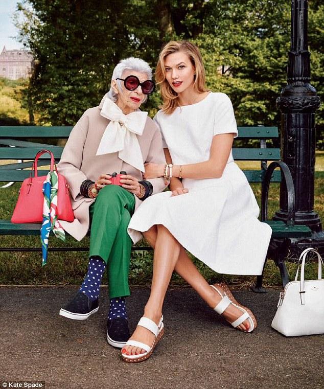 93-летняя Айрис Апфель и 18-летняя Тави Гевинсон в рекламе бренда Alexis Bittar