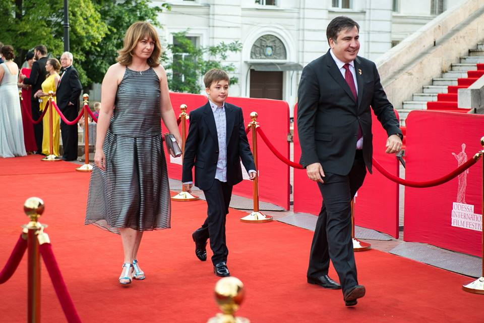 Саакашвили с семьей