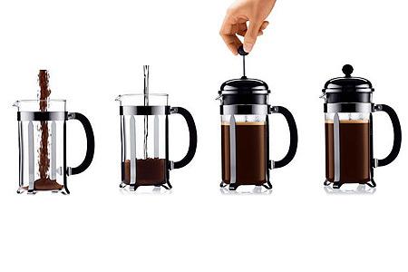 Способ заварки кофе «френч-пресс»