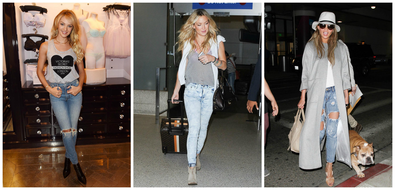 Звездные модницы делают ставку на рваные джинсы