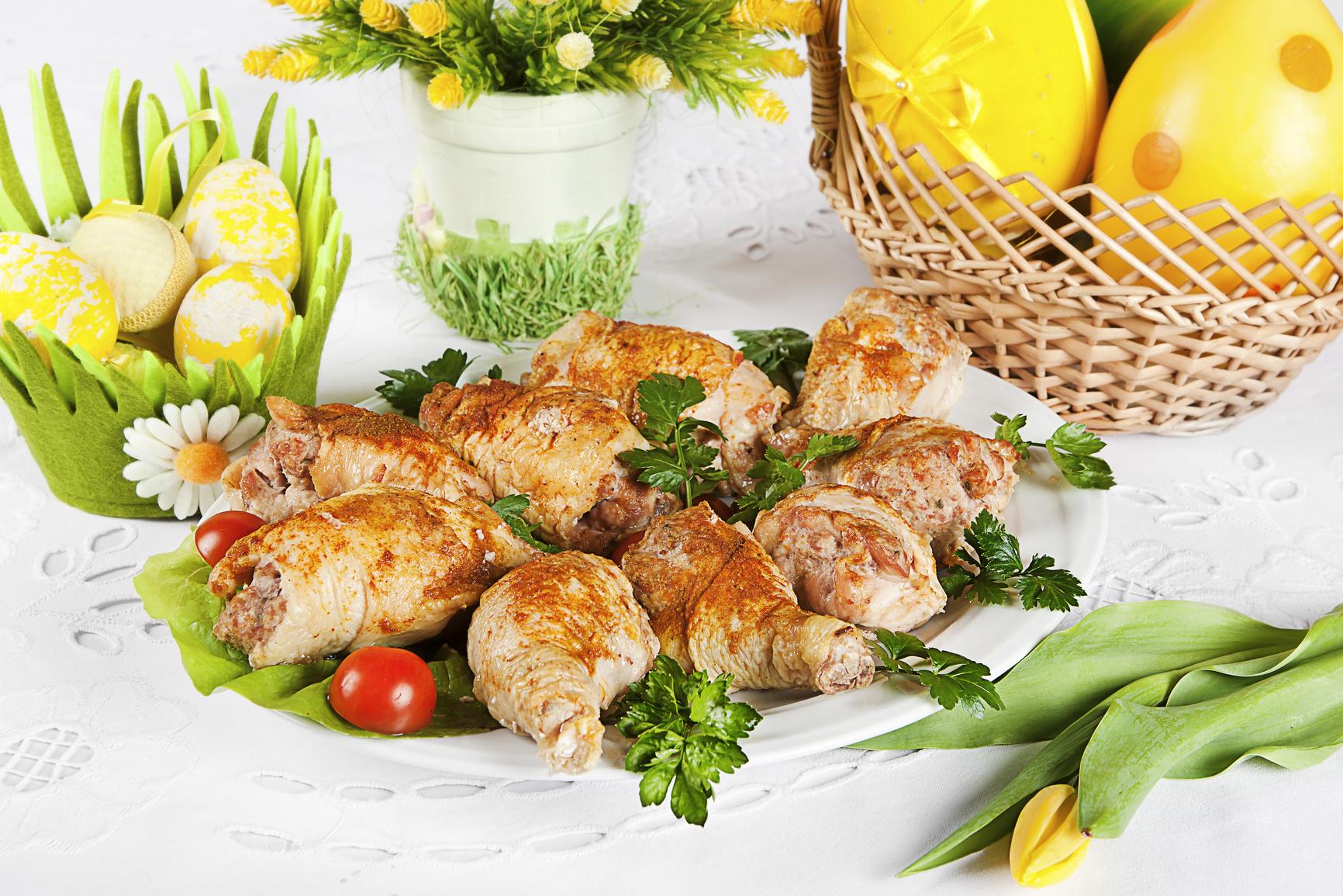 Жаренная курица гриль