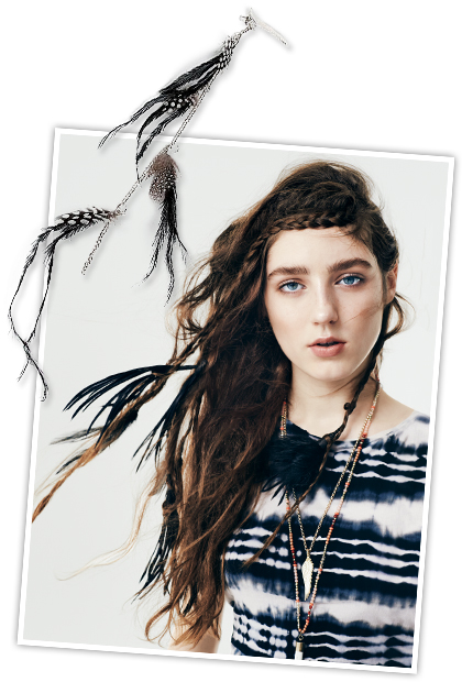 Аксессуары для волос: перья