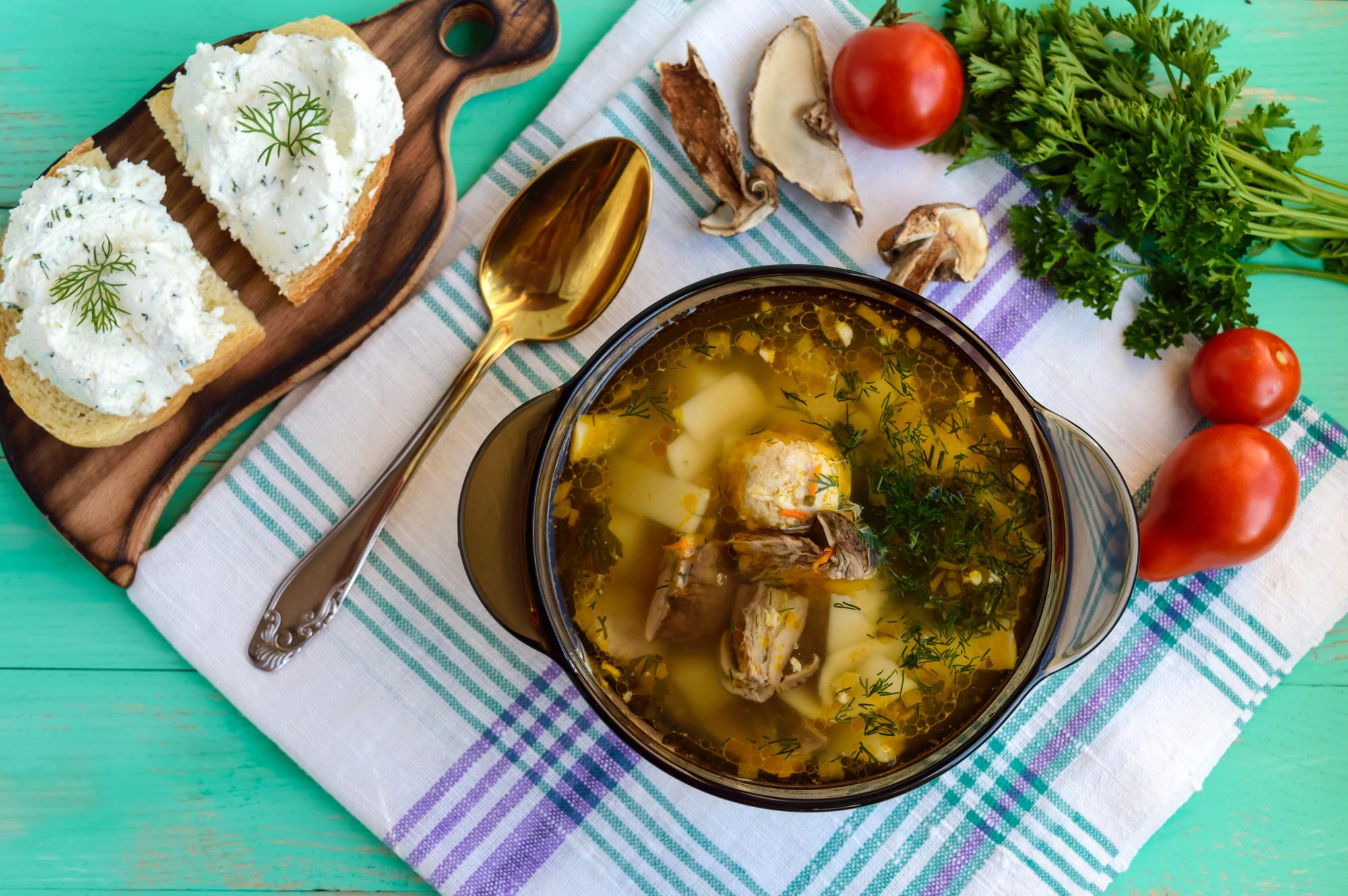 Суп с грибами и картошкой рецепт с 37