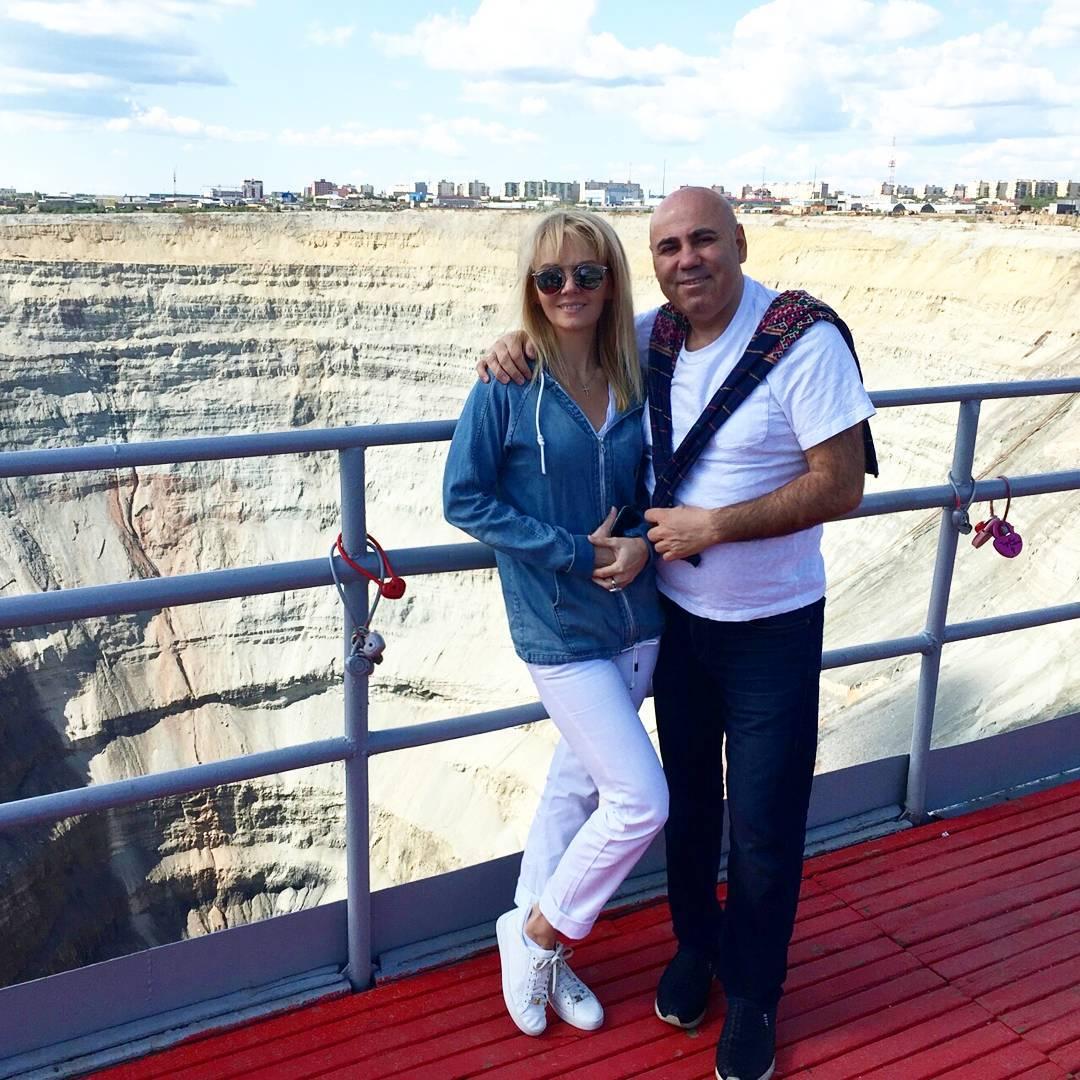 Валерия с мужем Иосифом Пригожиным