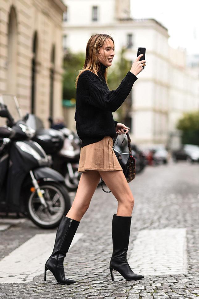 Ошибки стиля девушек с широкими бедрами: Сапоги ниже колена