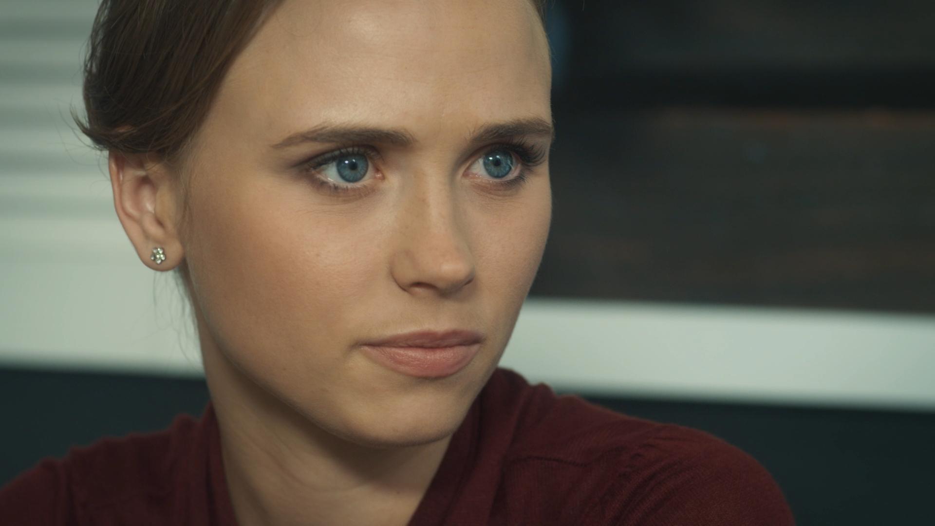 Актриса Анна Кошмал на съемках сериала
