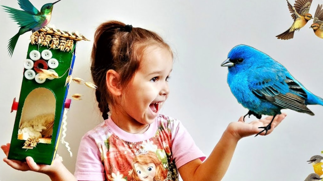 Смастерите кормушка для птиц