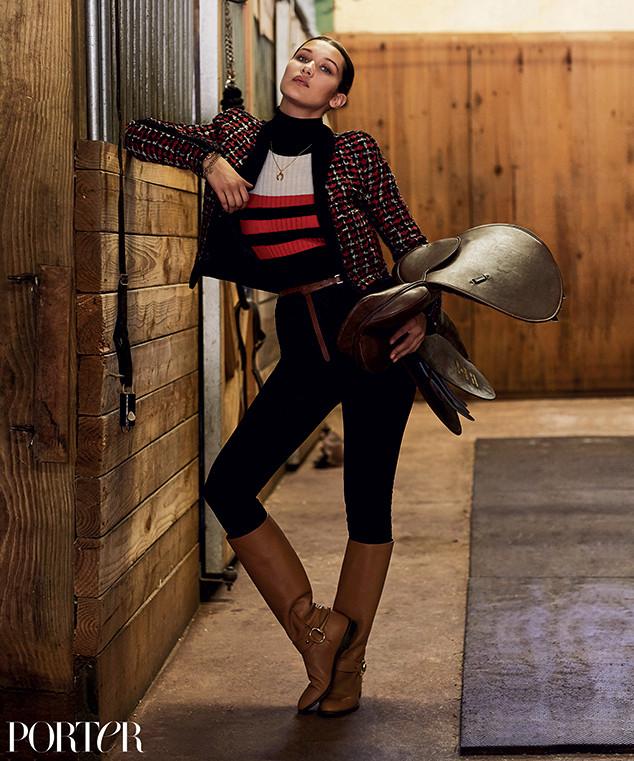 Белла Хадид в фотосессии для Porter