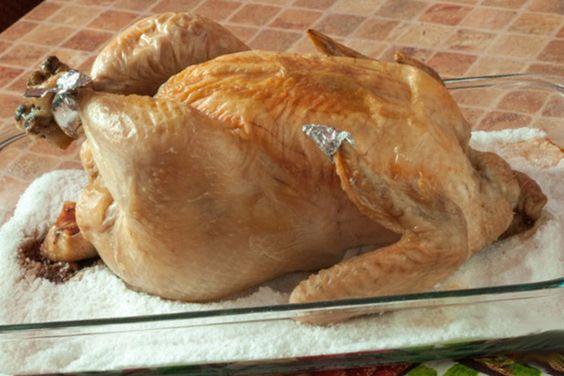 Курица на соли: популярный рецепт запекания птицы