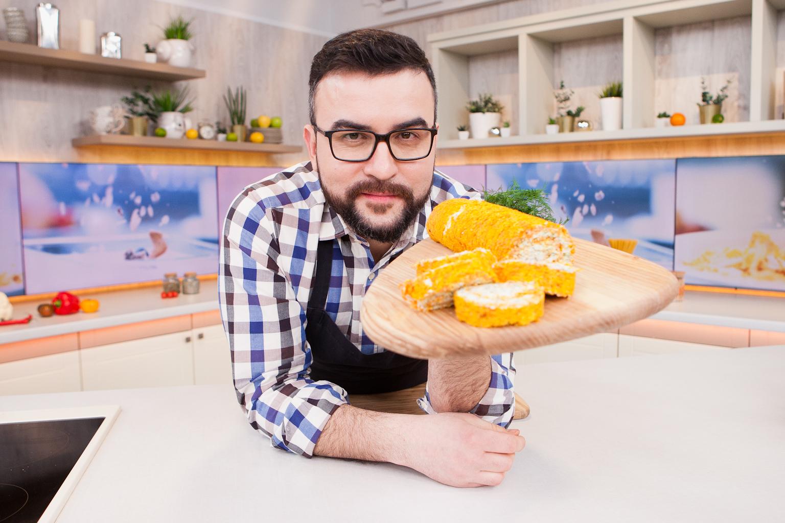Морковный рулет со сливочным сыром от Руслана Сеничкина