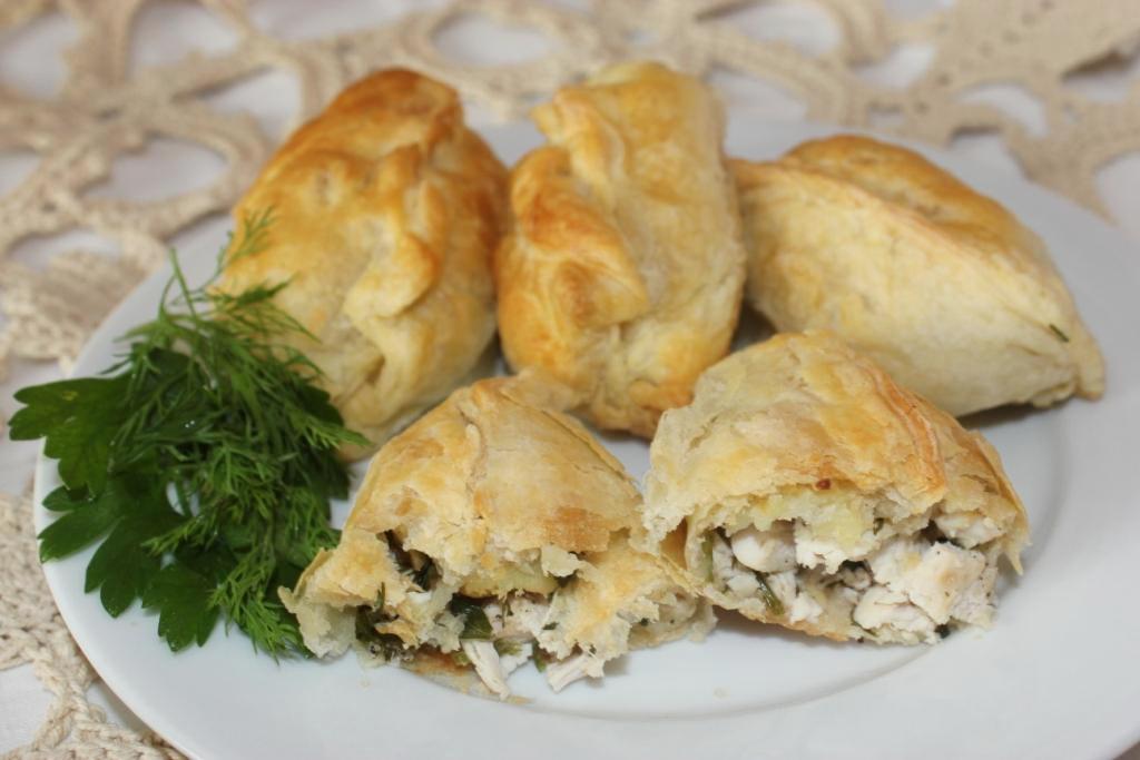Пирожки с курицей пошаговый рецепт