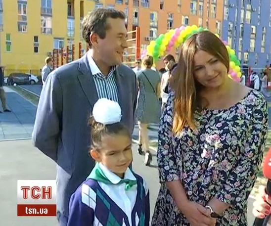 Певица Галлина с мужем Дмитрием Кравченко и дочкой Софией