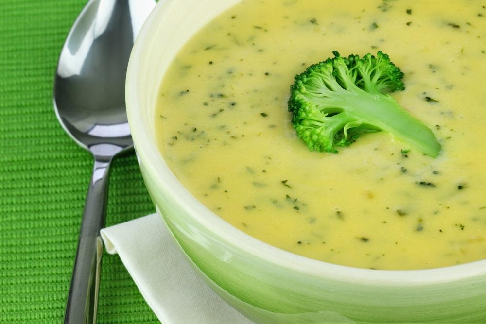 Суп - пюре из брокколи с гренками рецепт с фото пошаговый
