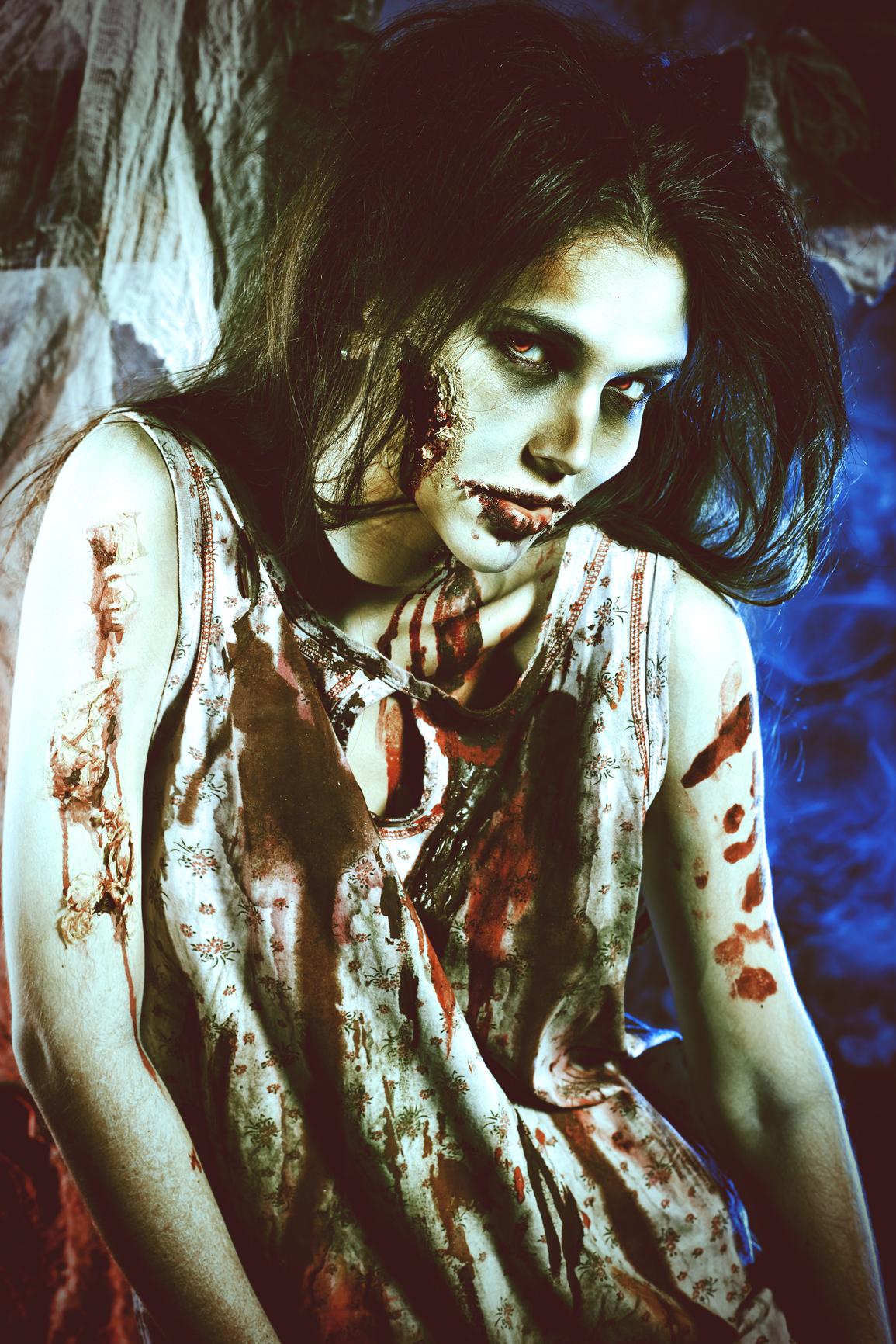 Макияж на Хэллоуин в стиле зомби