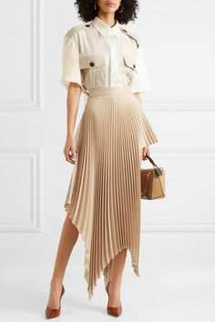 Плиссированная юбка c базовыми рубашками