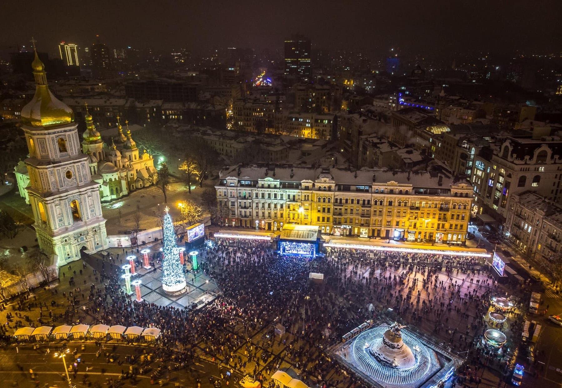 Центральная елка столицы Украины