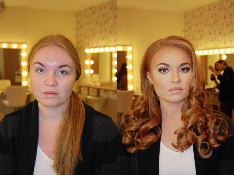 Девушка после макияжа выглядит, как другой человек