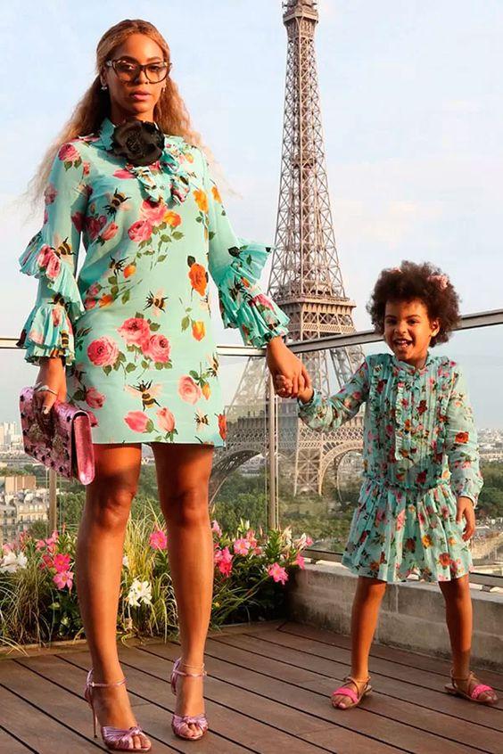 Бейонсе с дочерью