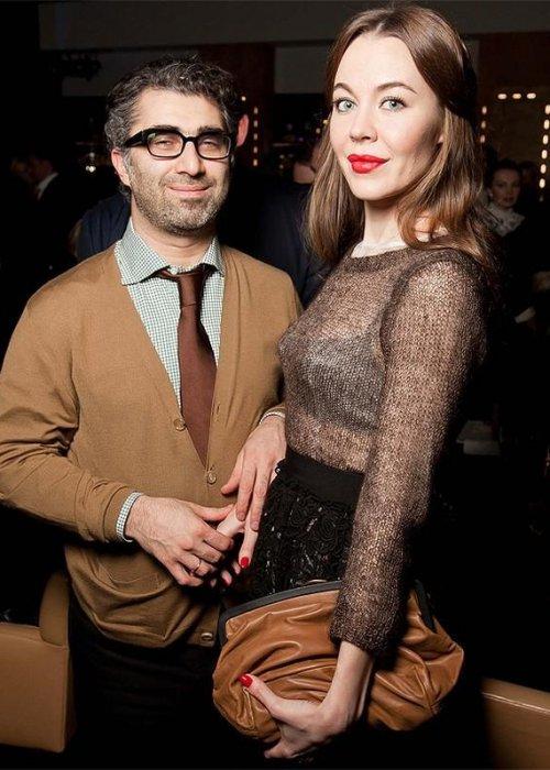 Российский дизайнер Ульяна Сергеенко с мужем Даниилом Хачатуровым