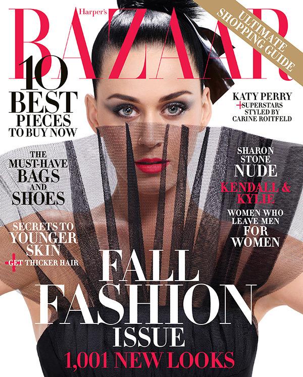 Кэти Перри на обложке Harper's Bazaar