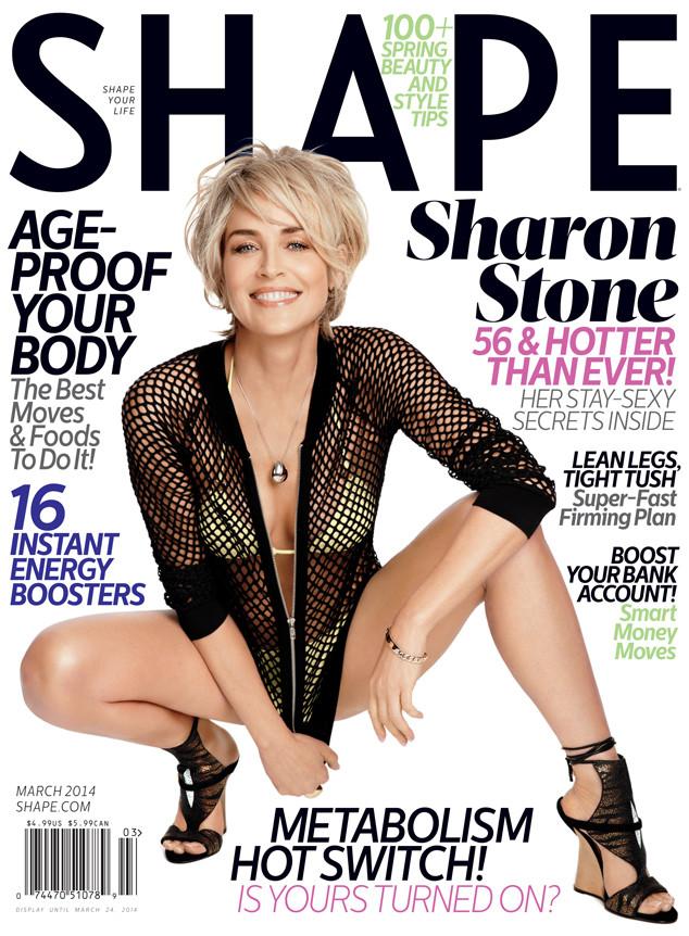 Актриса Шэрон Стоун часто посещает спортзал и ест полезную пищу