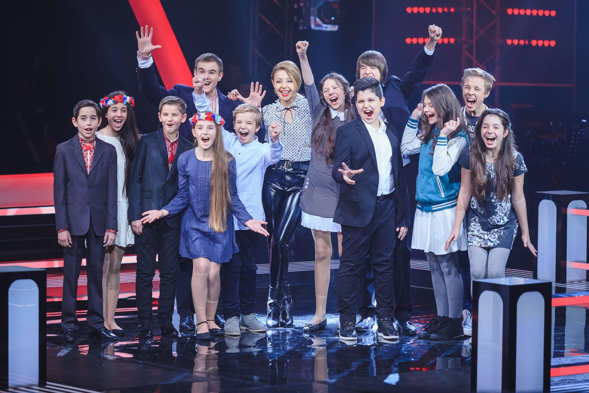 Участники шоу Голос. Діти