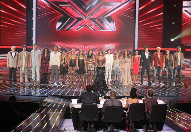 Участники второго сезона на сцене Х-Фактора
