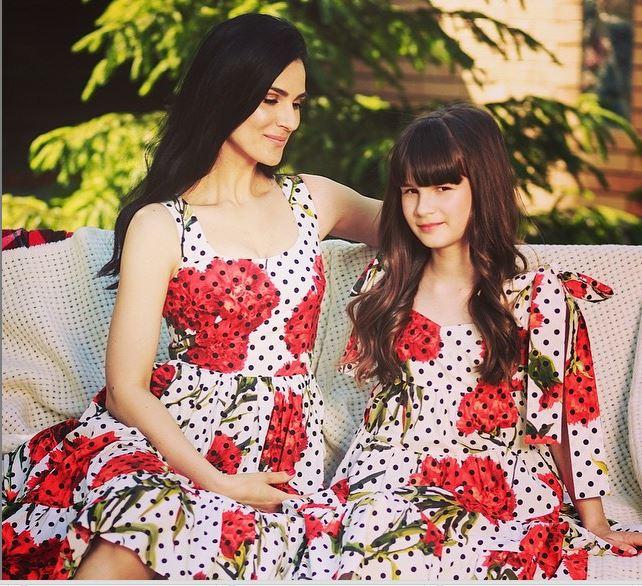 Ефросинина с 11-летней дочерью носят платья Dolce&Gabbana