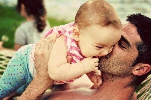 папы и дети фото